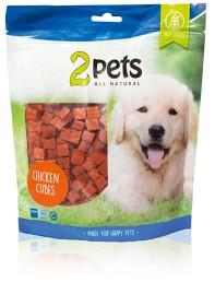 Bild på 2pets Dogsnack Chicken Cubes 400 g