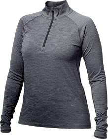 Bild på Alaska Merino Half-Zip -naisten aluskerrastopaita, harmaa