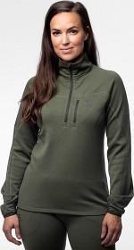 Bild på Alaska Merino Half-Zip -naisten välikerrastopaita, vihreä