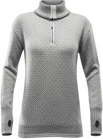 Bild på Devold Slogen Woman Zip Neck Grey Melange/Offwhite