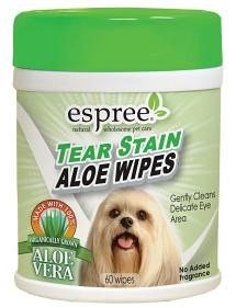 Bild på Espree Tear Stain Aloe Wipes 60 kpl