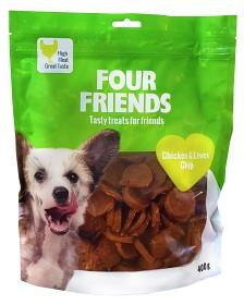 Bild på Four Friends Koiranherkku Chicken & Liver Chip 400g