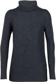 Bild på Icebreaker W's Waypoint Roll Neck Sweater Char HTHR