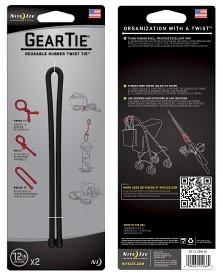 Bild på Nite Ize Gear Tie 12-Black 2-pack