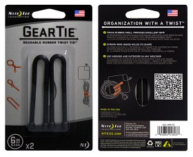 Bild på Nite Ize Gear Tie 6- Black 2-pack