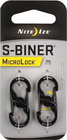 Bild på Nite Ize S-Biner MicroLock Stainless Steel - 2 Pack - Black