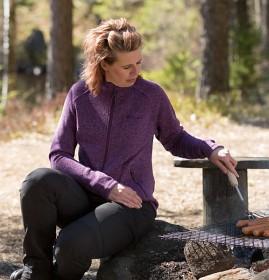 Bild på Pinewood W's Gabriella Fleece Jacket Purple Melange