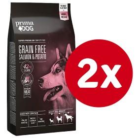 Bild på PrimaDog Grain Free Salmon & Potato 10 kg x 2