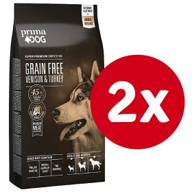Bild på PrimaDog Grain Free Venison & Turkey 10 kg x 2