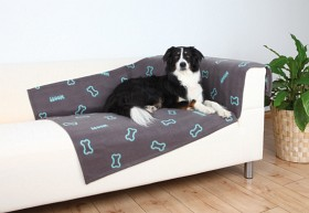 Bild på Trixie Barney -koiran fleeceviltti, harmaa, 150 x 100 cm